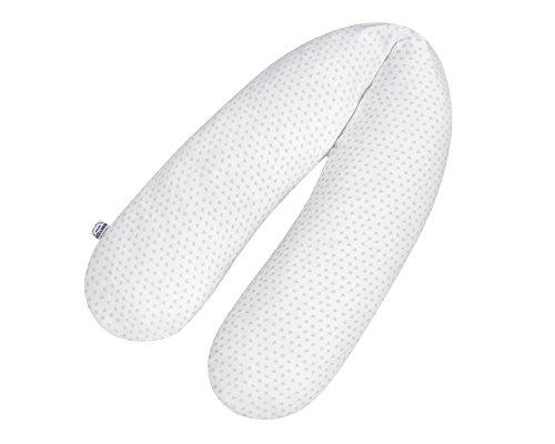 Coussin d'allaitement cœurs en jersey Gris, env. 190 cm