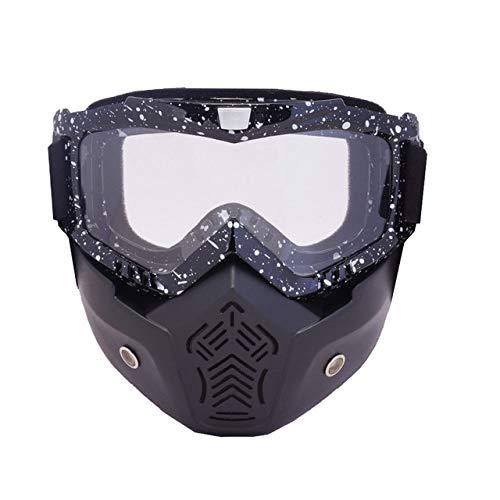 KTUCN Gafas esquí Máscara Modular Filtro Boca Desmontable
