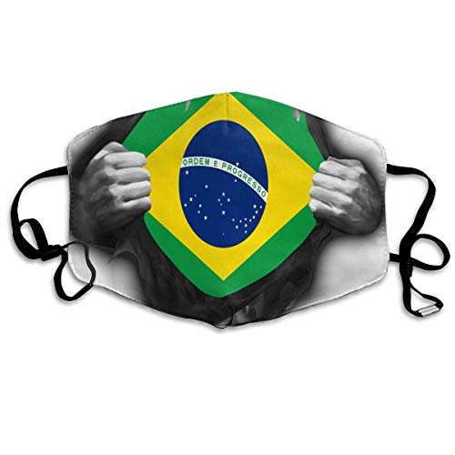 Face Mask Brazil Flag Proud Earloop Mouth Masks - Adjustable Elastic Strap for Climbing Hiking, Anti Smog Anti-Dust Mouth-Muffle, Half Face Mouth Mask/Cover Flag-peeling