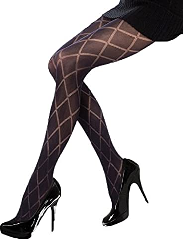 Yummy Bee Silky Tights Black Diamond Opaque Lingerie X-Large 18 20 22
