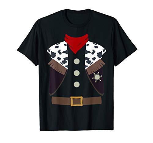 Halloween Sheriff Kostüm - Cowboy Western Sheriff Halloween Kostüm Wilder Westen T-Shirt