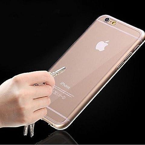 Multifunktions-Telefon-Tasche/Leder Soft Shell/Ultra dünn gummiert transparent TPU Schutzhülle für iPhone 6
