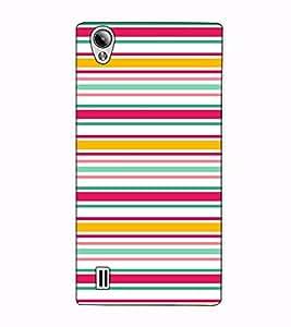 Fuson Designer Back Case Cover for Vivo Y15S :: Vivo Y15 (Strips Colourful Theme)