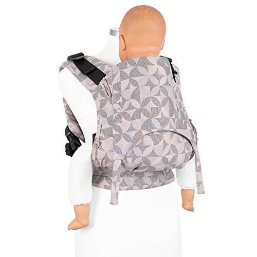 FIDELLA Fusion 2.0 marsupio ergonomico Full Buckle I porta bebè con cintura addominale I 100% cotone organico I adattabile per bambini fino a 30 kg