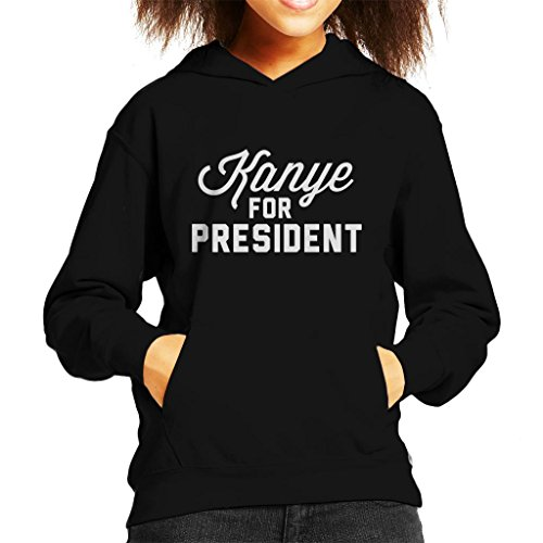 Cloud City 7 Kanye For President Kid\'s Hooded Sweatshirt