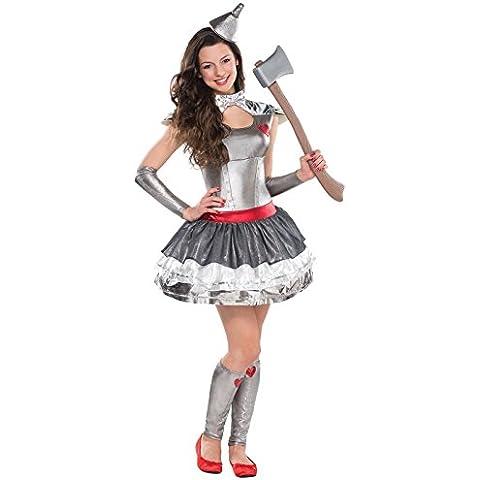 Nuovo Ragazzi latta Heartthrob Halloween costume per bambini libro settimana Outfit–Vestito/Cappello/Scaldamuscoli/braccia–Mago di Oz Tin Man ispirato–Taglia 10–12, 12–14, 14–16anni