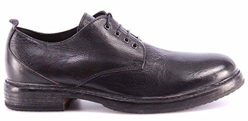 Scarpe Classiche Uomo MOMA 58501-RA Macao Nero Pelle Vintage Handmade ITA Nuove