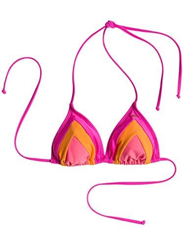 Roxy Bikini Color Me Bad Tiki Triangle Bikini Top -