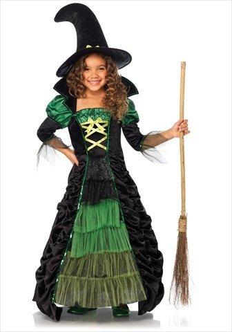 Hexen-Kostüm für Mädchen 140/152 (10-12 (Kostüme Zauberhafte Kind Hexe)
