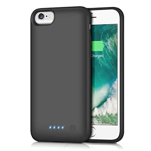 "nuovo prodotto 5487d 9ab50 Cover Batteria per iPhone 6/6s/7/8, 6000mAh Cover Caricabatterie Cover  ricaricabile per iPhone 6/6s/7/8 [4.7""] Custodia Batteria Esterna Battery  Case ..."