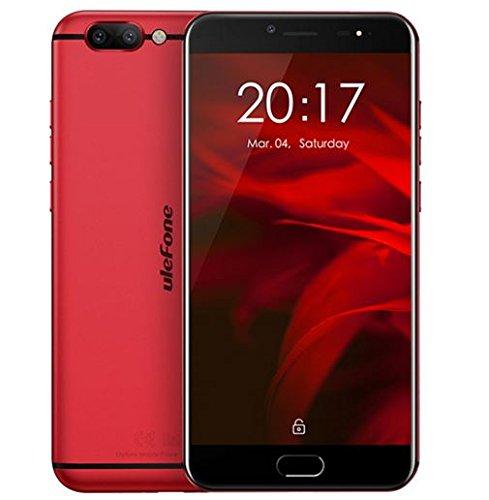 Ulefone Gemini Pro - Android 7,5 pollici FHD schermo 4G smart Helio X27 Deca Core 2.6GHz, 4GB RAM + 64GB ROM, fotocamere triple (fotocamera frontale 8MP e fotocamera posteriore SONY IMX258 13MP + 13MP) Impronta digitale Tipo-C - Rosso