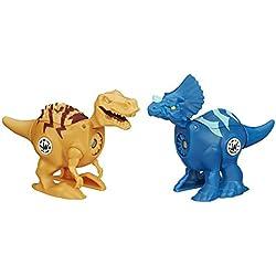 Jurásico Mundo brawlasaurs Tyrannosaurus Rex vs. Triceratops figura Pack