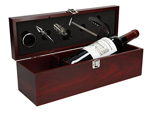 Geschenkset Weinset Chateau Haut Bourbon Bordeaux AOC trocken mit Holzkiste (1 x 0.75 l)
