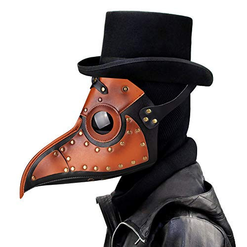 Leshi Shop Plague Doctor Mask, Pestmaske Plague Doctor Kostüm Halloween Kostüm Damen Halloween Mask (Halloween-kostüm 2019 Spiel)