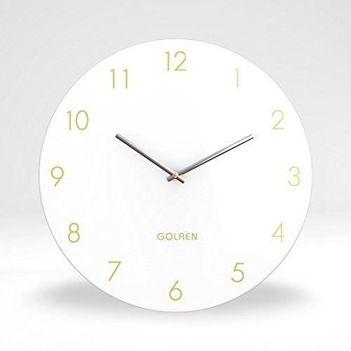 YANXUEPING 15 Pulgadas Salón Creativa de mármol, Reloj de Pared Relo