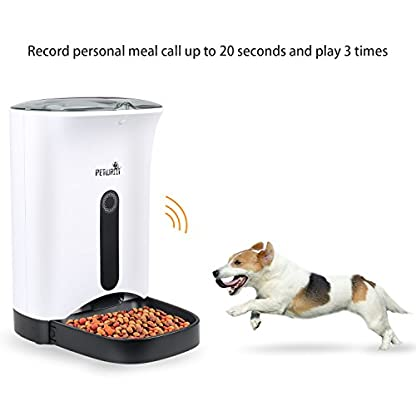 TD Design 4.3L Automatic Pet Feeder for Dogs & Cats – Up to 4 Meals a Day,Pet Food Dispenser 4