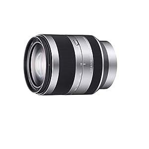 Sony SEL18200, Hochleistungs-Zoom-Objektiv (18-200 mm, F3.5-6.3 OSS, E-Mount APS-C, geeignet für A5000/ A5100/ A6000 Serien & Nex) silber