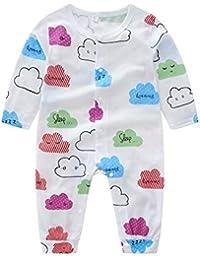 Mameluco del bebé recién nacido manga larga nube mono de moda recién nacido niño ropa de dormir mono de la muchacha del muchacho