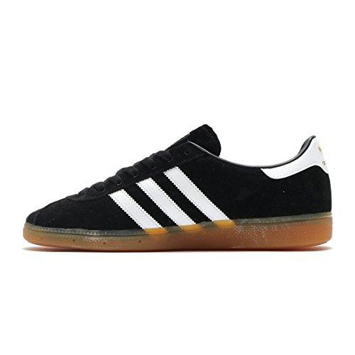 Herren Adidas Core München Sneaker White Black gum3 ftwr 477dzqwp