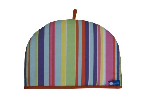 Rushbrookes Reversible Tea Cosy, Barcode Bright and Blue, 6 Cup Test