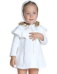 YOUJIA Dulce Princesa Vestido de Punto Color Sólido Suéter Jersey para Niñas