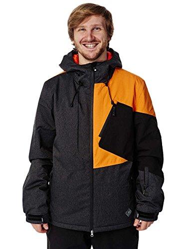 Light Herren Mens Jacket Ego Technical Outerwear, Navy/Black/Orange, M
