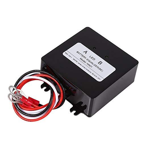 Batteria Equalizer,Sistema Solare Batteria Balancer Equalizer Due Direzioni Scarico Bilanciato Prolungamento della Durata della Batteria 0-5A 2×12 V