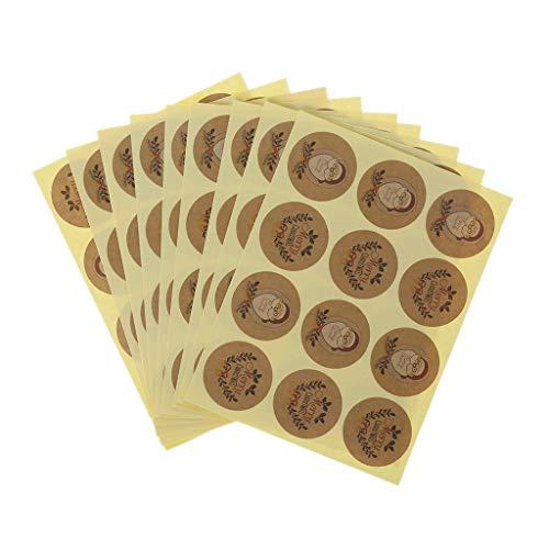 Nvbmcxern 120pcs Santa Claus Paper Kraft Sticker Feliz