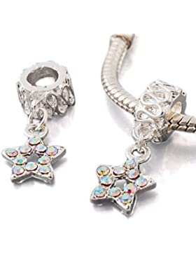 Andante-Stones Silber Dangle Bead