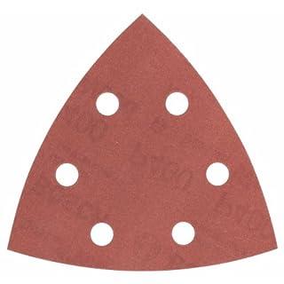Bosch Professional Schleifblätter für Dreieckschleifer Holz und Farbe (50 Stück, 93 mm, Körnung 400, C470)
