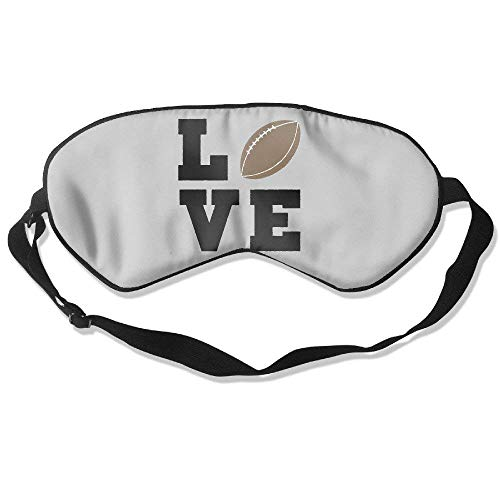 Love football unisex, comfortable, ultra light weight, travel, blindfold blockout eye shade