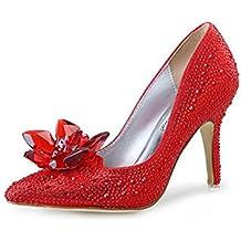 CYGG New JC Punta Diamond Flat con scarpe da donna Cenerentola cristallo trasparente scarpe basse casuali , gold , 39