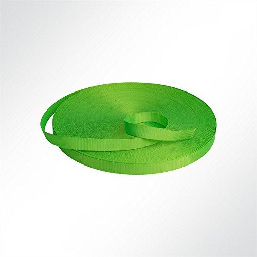 LYSEL Neon Gurtband Polyester (PES) 35mm breit, 2mm stark, 3500 Kg, (L) 6m