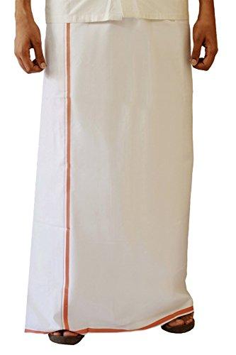 Royal Kurta Men's Cotton Dhoti Free Size White - Dhoti Kurta