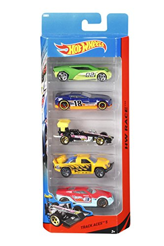 Hot Wheels Five Car Gift Pack Assortment, Colors and Designs Might Vary