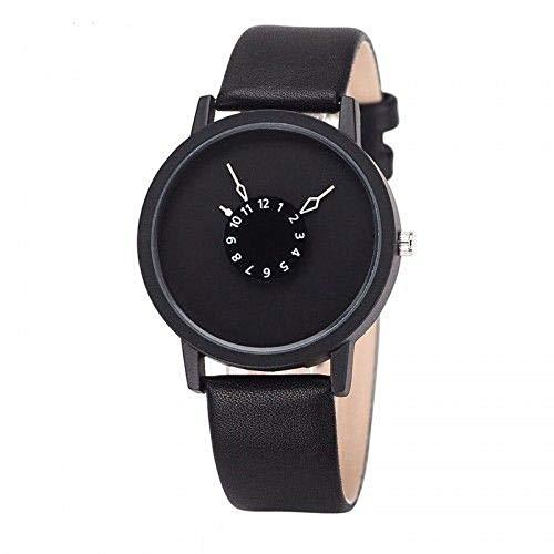 Top 2019 Futuristische Designer Armbanduhr Uhr Damenuhr Herrenuhr schwarz (Futuristische Uhr)