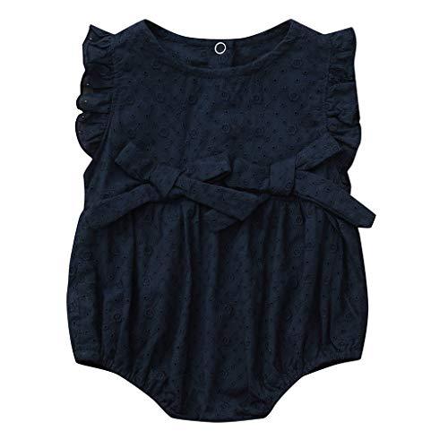 Sanahy Baby Mädchen Ärmellose Rüschenschleife für Kinder mit Blumenmuster Einteiliges Dreieck Kleinkind Prinzessin Neugeborenes Kleidung