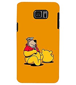 PRINTSWAG BEAR WITH DRINK Designer Back Cover Case for SAMSUNG GALAXY S6 EDGE PLUS