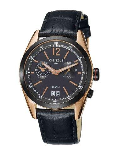 Kienzle - K3071143031-00083 - Montre Homme - Quartz Analogique - Alarme - Bracelet Cuir Noir