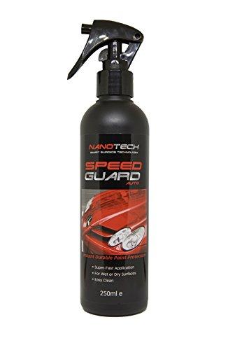 Speed Guard | Ersetzt Autowachs und Autopolitur | Nano Beschichtungstechnologie | sofortiger langanhaltender Autolack-Schutz-Spray I Funktionier auf Autos, Wohnwagen und Motorrädern | Weist Dreck und Wasser ab