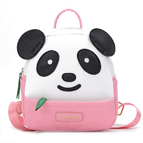 TXVSO Carino Kawaii Panda Bambini Zaino Zaino Scuola materna del fumetto per bambini Toddler, rosa