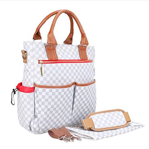qscwdv Neue Wickeltasche Mode Plaid Wickeltasche Messenger Baby Tasche Organizer Kinderwagen Gurte Für Mutterschaft Babypflege Wickelauflage @ Check Muster