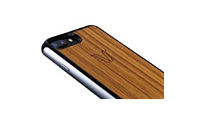 WOODIE Milano | Wireless Cover per iPhone (iPhone 6 / 6s / 7, Teak)