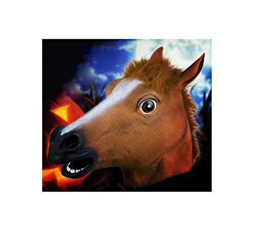 Halloween Latex Pferd Kostüm Dunkelbraun Unisex Cosplay ()