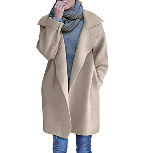 Kingko Winter Mantel Damen,Strickjacke Damen Cardigan Frauen Strickmantel Lang Öffnen...