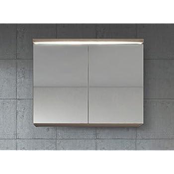 Spiegelschrank Paso 80 cm Sonoma eiche hell - Schrank Spiegelschrank ...