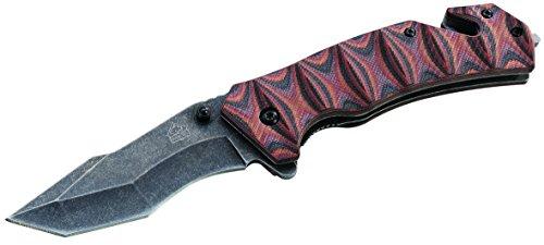 Puma Tec Couteau de sauvetage, manche G10, longueur ouvert : 20,5 cm, gris, taille M