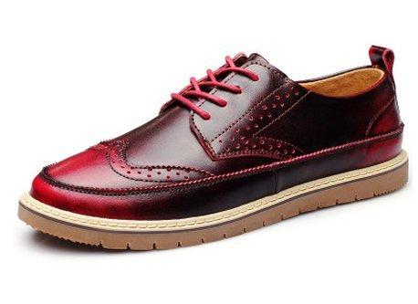 LHomme conduisant la voiture Patins Chaussures Casual Chaussures Casual classique de haute qualité Claret