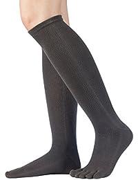Knitido Essentials | Calcetines Clásicos en algodón (81%) por debajo de la rodilla, para hombre y mujer, negro, gris antracita y violeta, Size:UK 5.5-8;Colours:grey