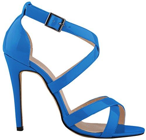 CFP , Peep-Toe femme bleu ciel